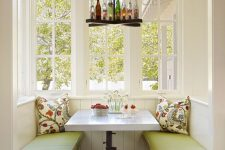 22 rustic farmhouse breakfast nook with built-in benches