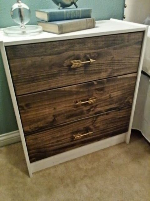 wood-clad Rast as a nightstand