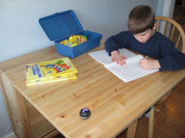 Norden Gateleg table is great for children's art