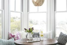 25 cozy and airy Scandinavian breakfast nook. You can build one with an IKEA set