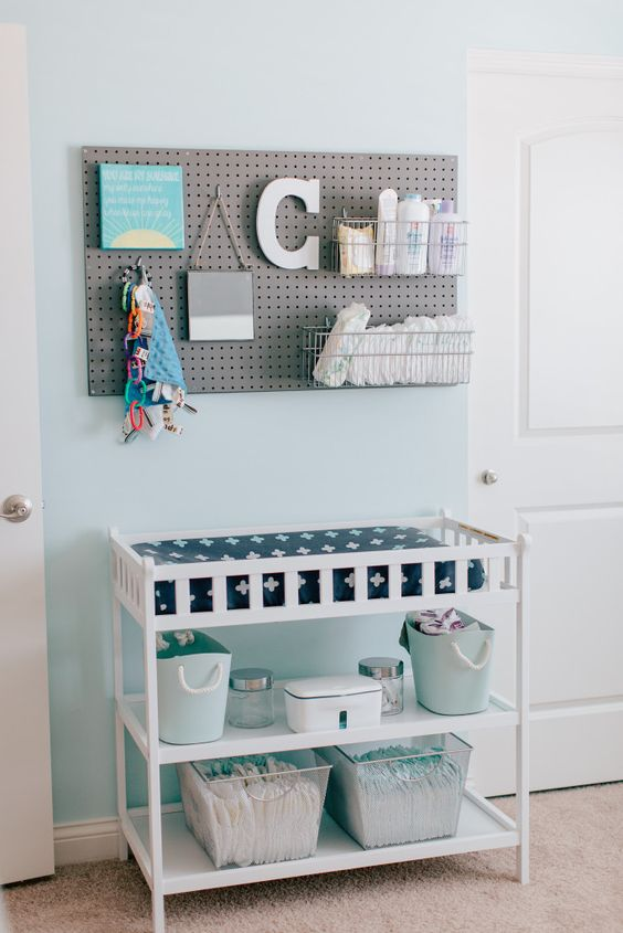 closet storage ideas - 28 Changing Table And Station Ideas That Are Functional