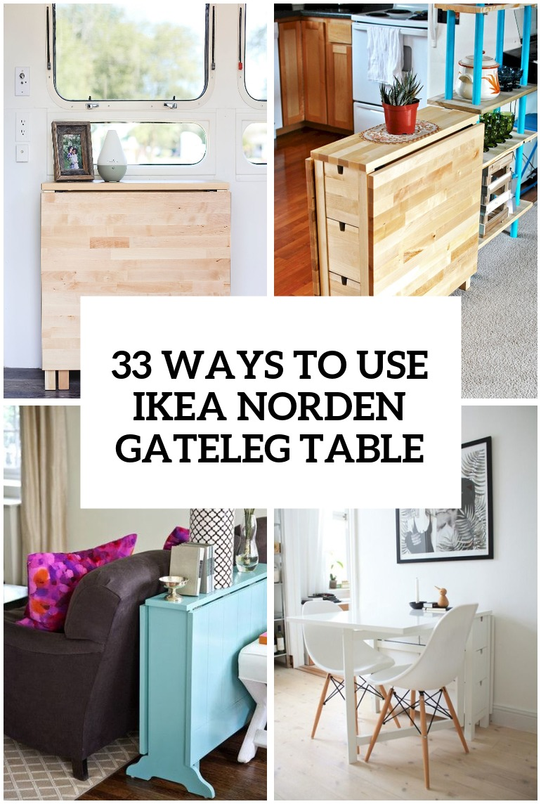25 ways to use ikea norden gateleg table in d cor digsdigs. Black Bedroom Furniture Sets. Home Design Ideas