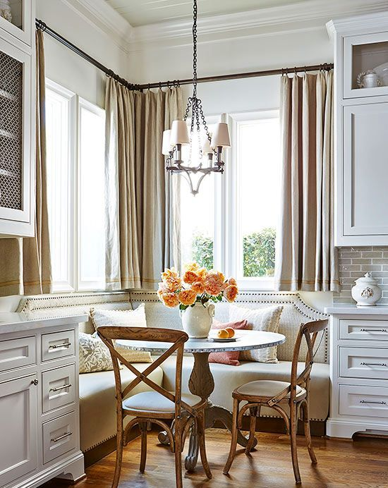 cozy and warm traditional breakfast nook
