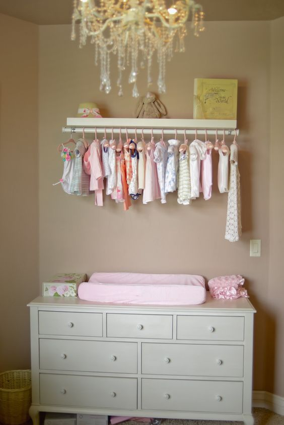 exposed closet ideas - 28 Changing Table And Station Ideas That Are Functional