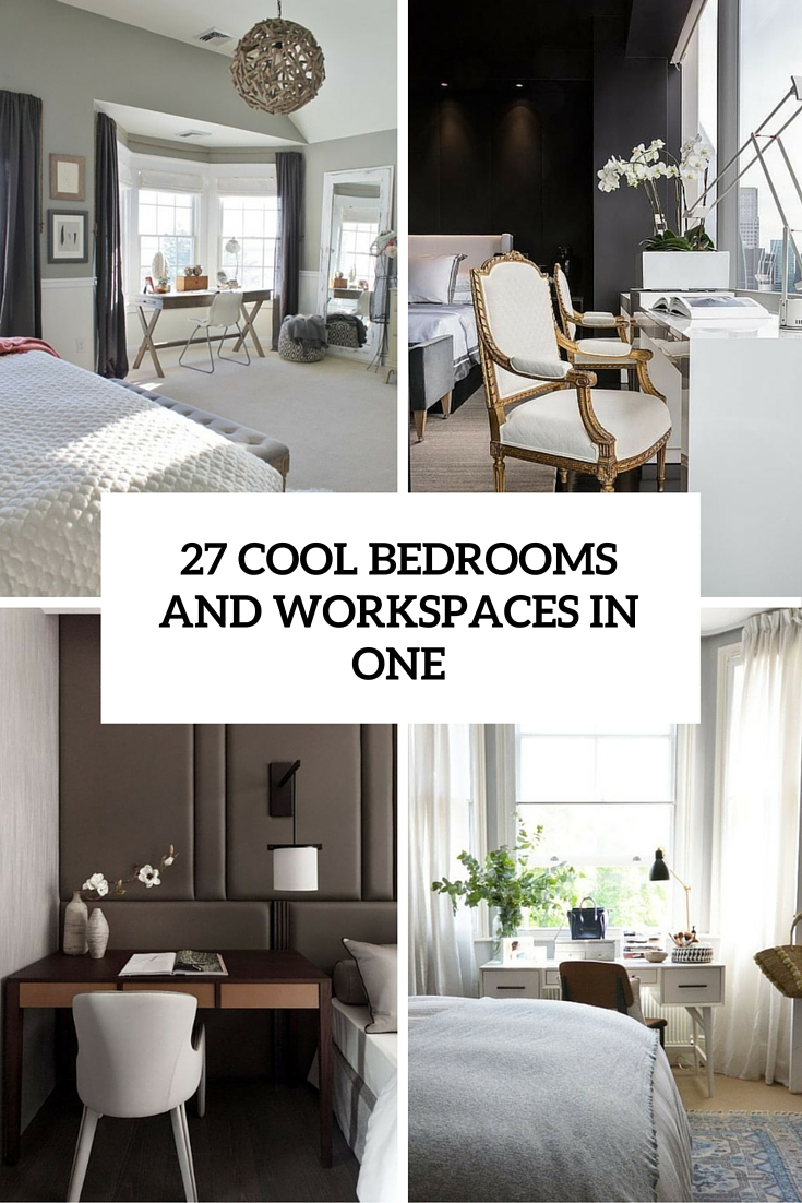 cool bedrooms and workspaces in one cover
