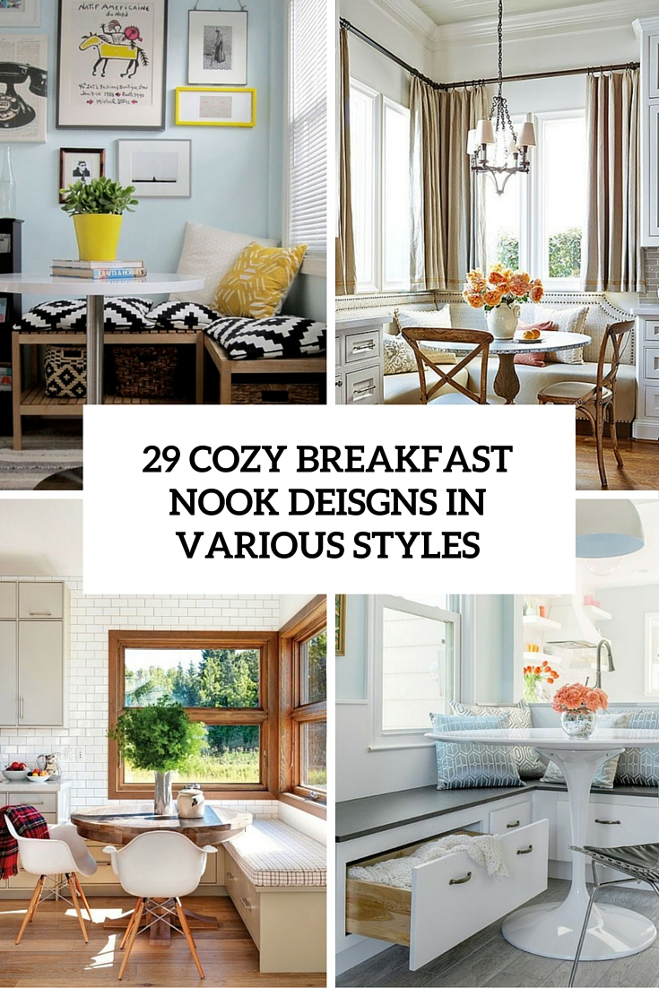 cozy breakfast nook designs in various styles cover