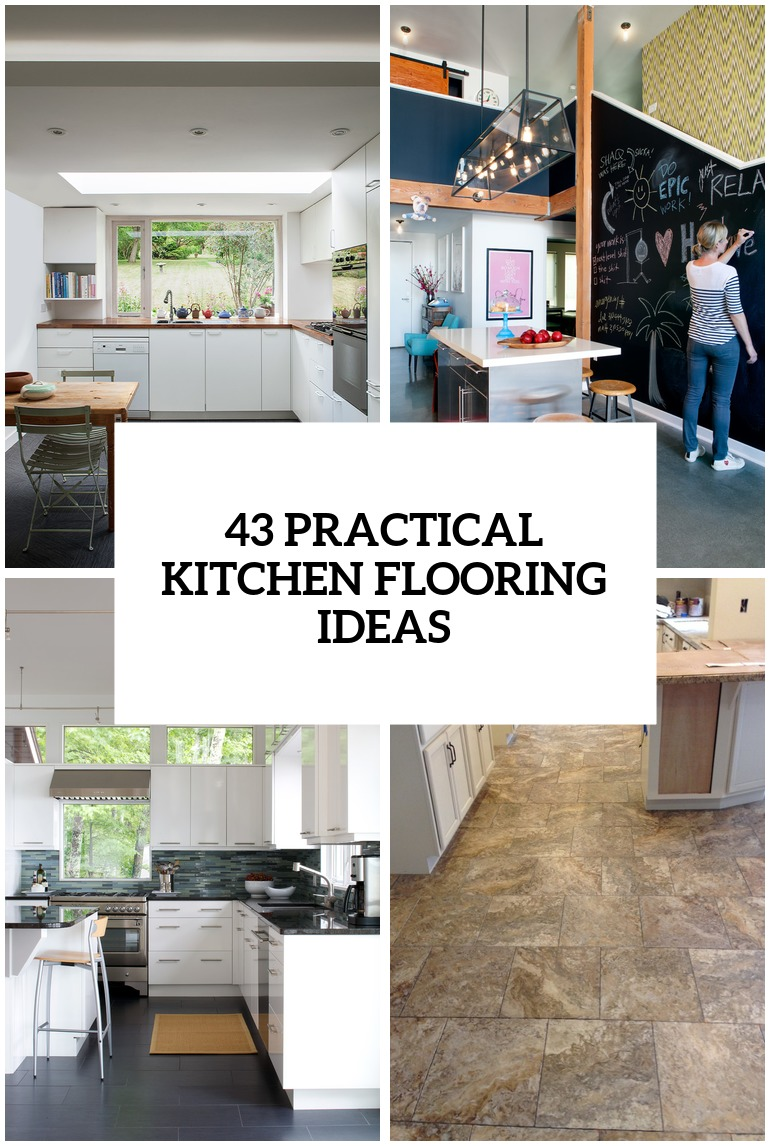 30 practical and cool looking kitchen flooring ideas for Unusual kitchen flooring ideas
