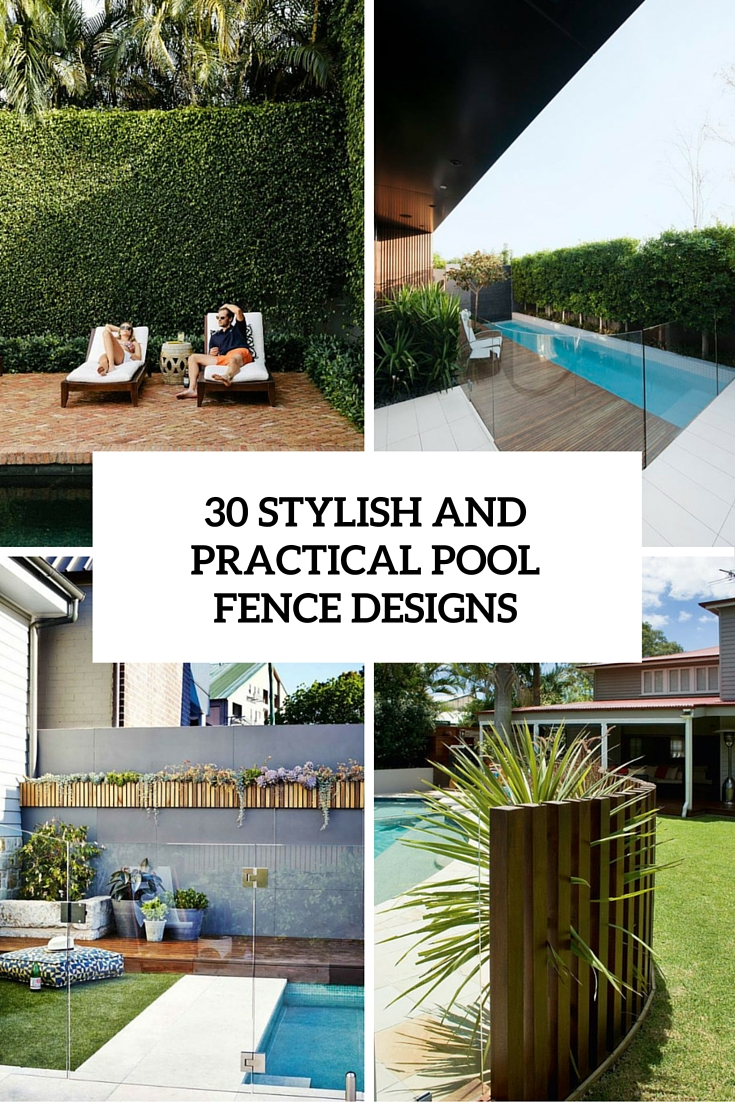 30 stylish and practical pool fence designs