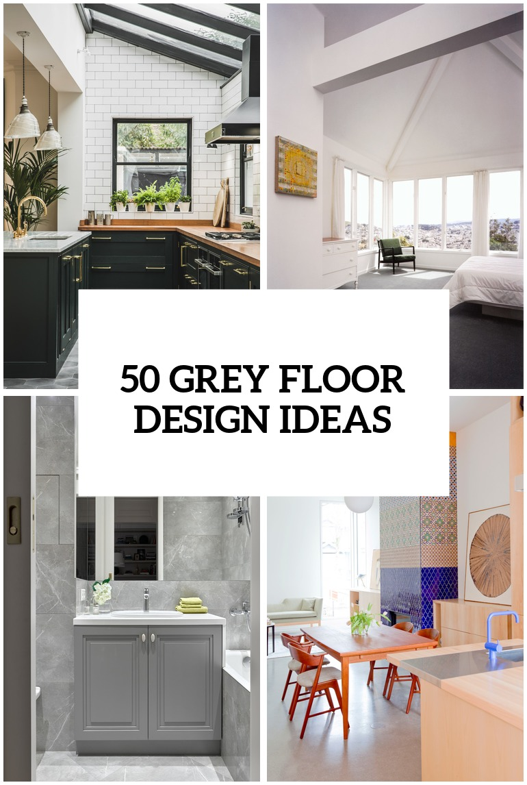 32 grey floor design ideas that fit any room digsdigs Paint colors that go with grey flooring