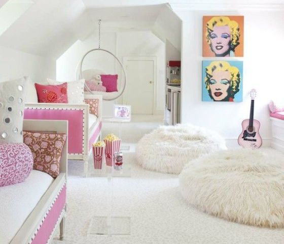 Fun Girl Room: 34 Ideas To Organize And Decorate A Teen Girl Bedroom
