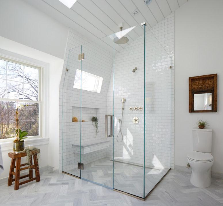 Wood Floor In Bathroom | 50 Grey Floor Design Ideas That Fit Any Room Digsdigs