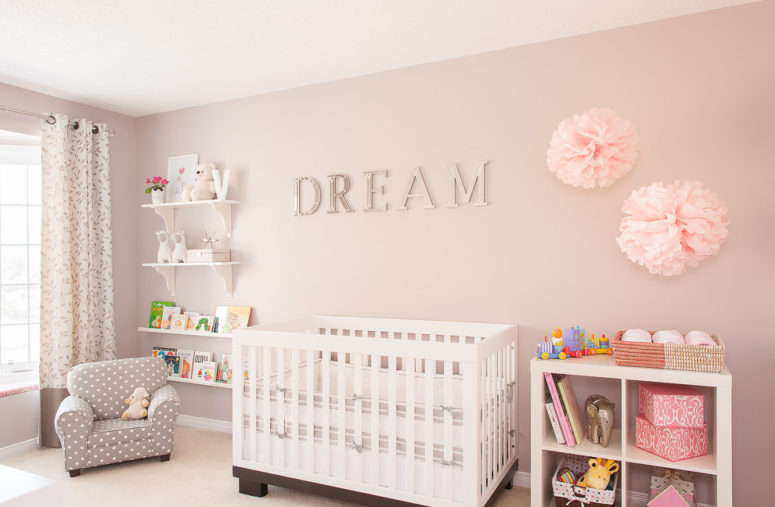 The unit is perfect addition to any nursery. In works well mixed with taupe colors. (Leslie Goodwin Photography)