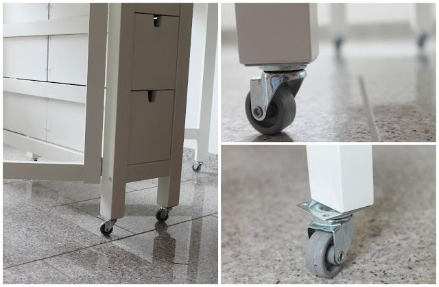 hack Norden Gateleg table by adding wheels so it can become a perfect sewing table you can move around