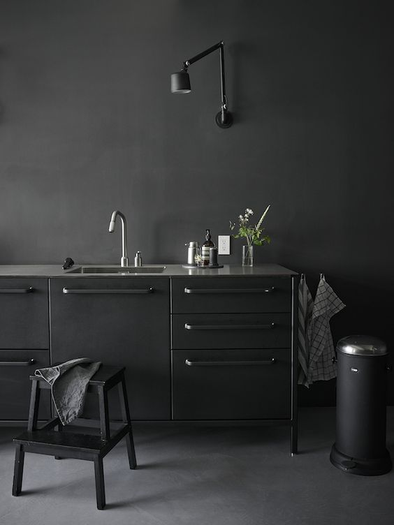 industrial VIPP kitchen in black