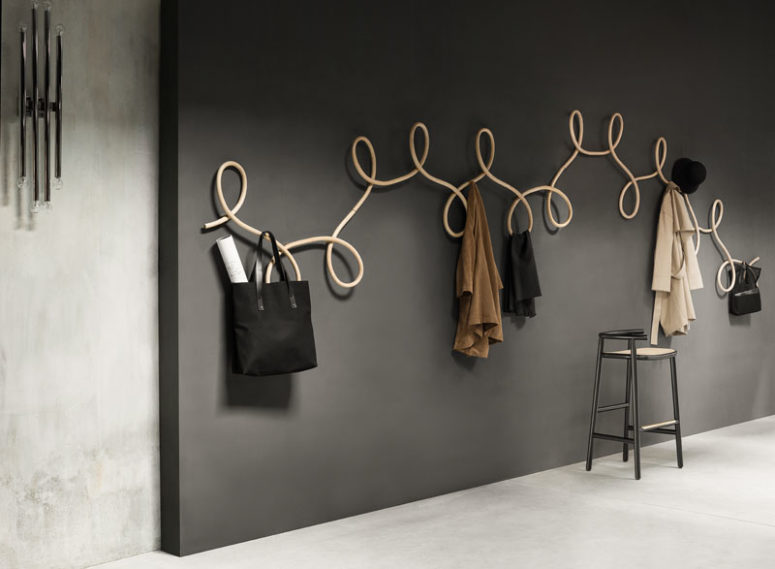 Sculptural Coat Rack Inspired By Waltz Dancing