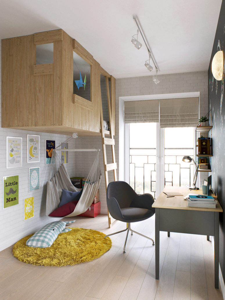 Modern Boy S Room With A Tree House Bed Digsdigs