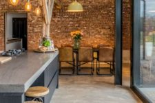 02 concrete floors here perfectly blend with an industrial ambience adding to the mood