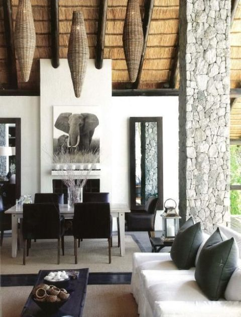 33 striking africa inspired home decor ideas digsdigs for African house decoration