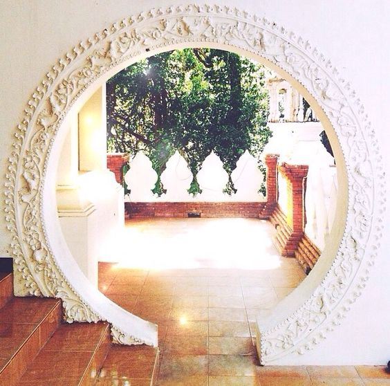 standard doorway changed for a beautiful Moroccan arch