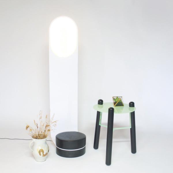 Finger Floor Light and Nub Side Table