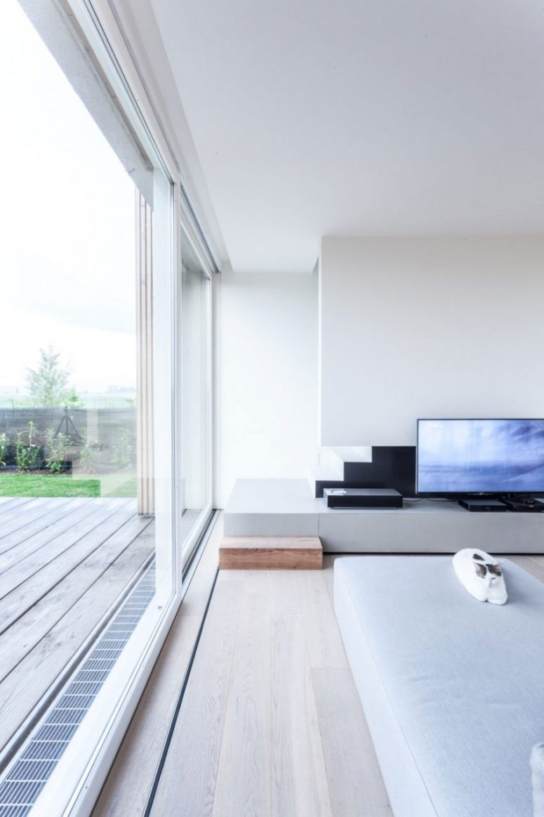 The home is clutter-free, spacious, airy and ultra-minimalist