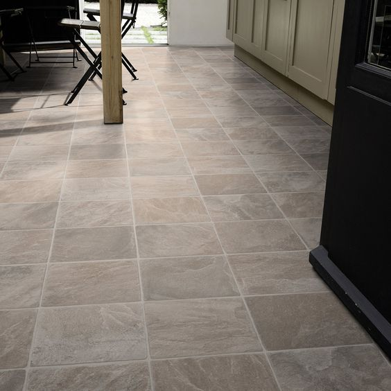 29 vinyl flooring ideas with pros and cons digsdigs for Kitchen vinyl flooring