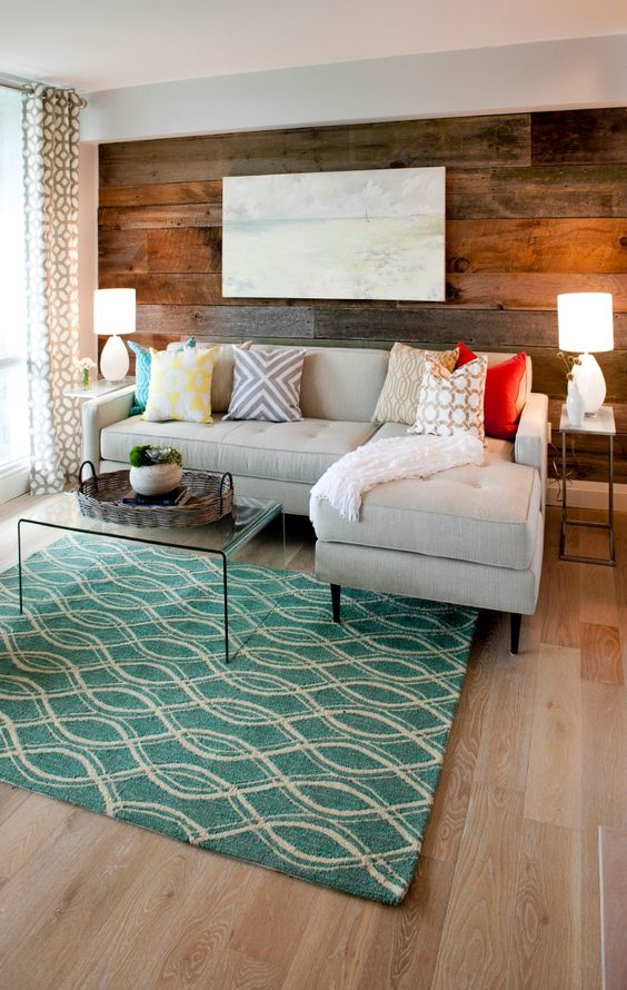 30 wood accent walls to make every space cozier digsdigs - Rustic apartment interior wrapped in contemporary and traditional accent ...