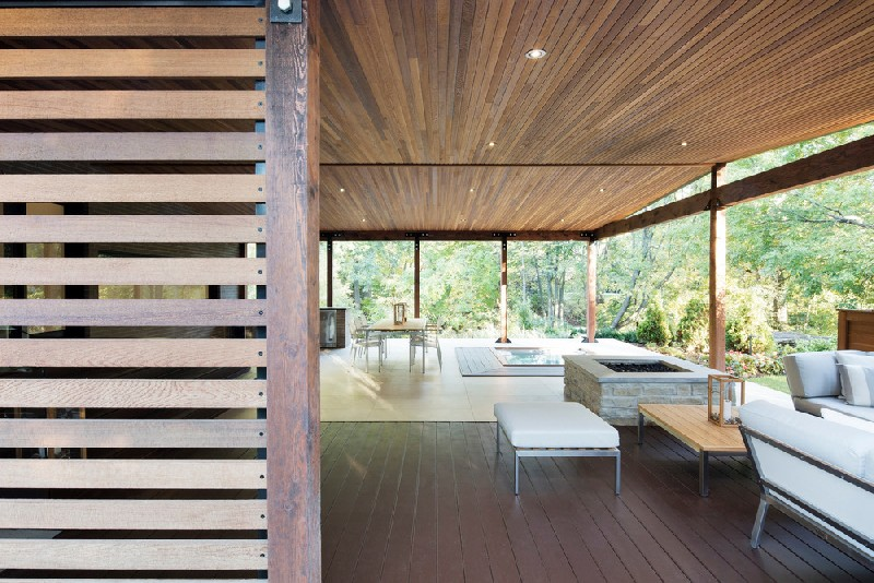 Modern Prairie Style House With Lots Of Natural Wood In