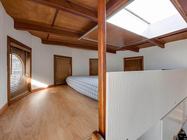 There's a lofted bedroom to enjoy the calmness and beautiful views
