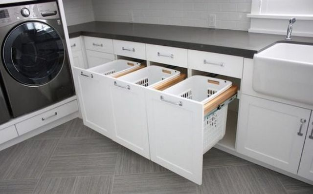 simple laundry room pull outs