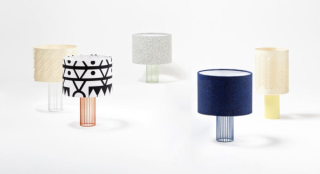 The series of lamps strikes with different lampshades
