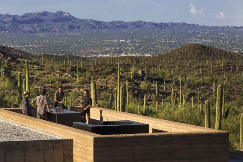 There are several terraces and outdoor relax zones and the house is rather eco-friendly