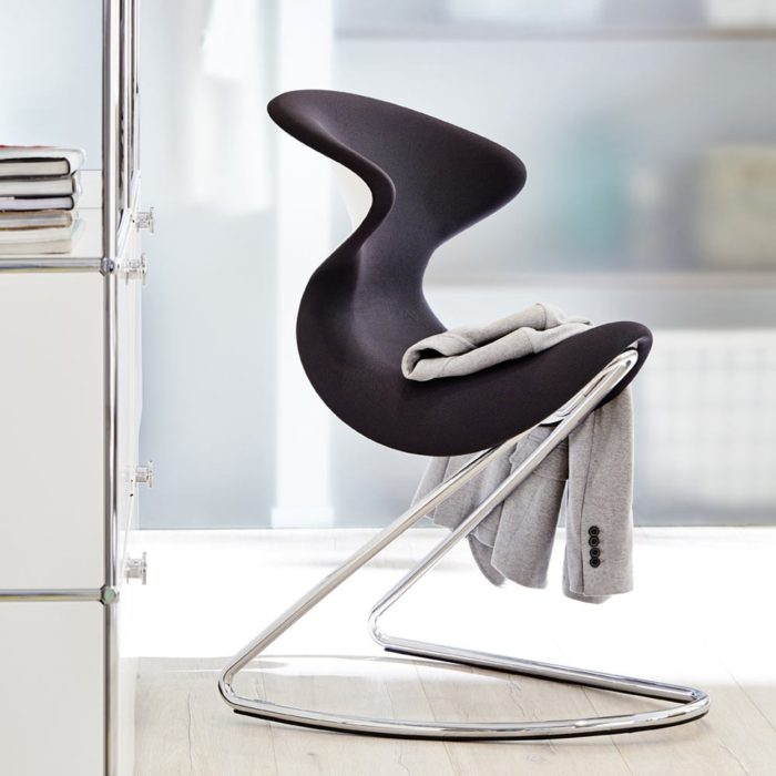 This chair can perfectly work not only in home space but also in modern offices