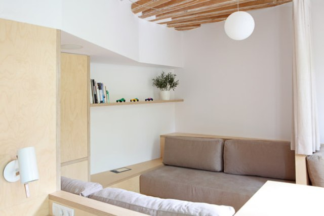 Though the space is rather small, it looks bigger due to the white color of the walls
