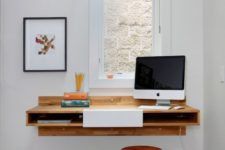 07 a wall-mounted desk is perfect for small kids' rooms
