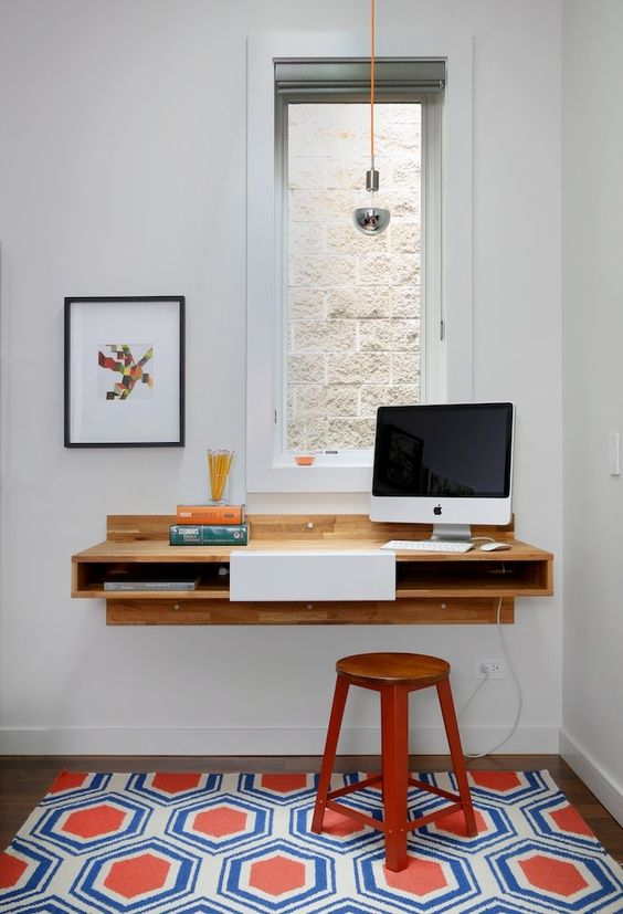a wallmounted desk is perfect for small kidsu0027 rooms