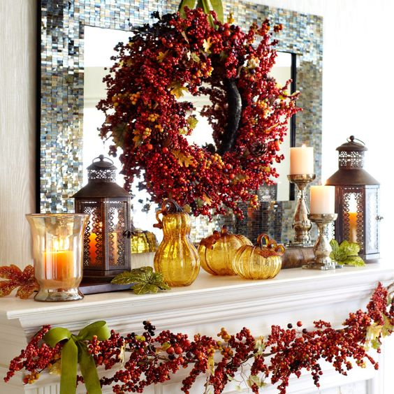31 Cozy And Creative Fall Mantel