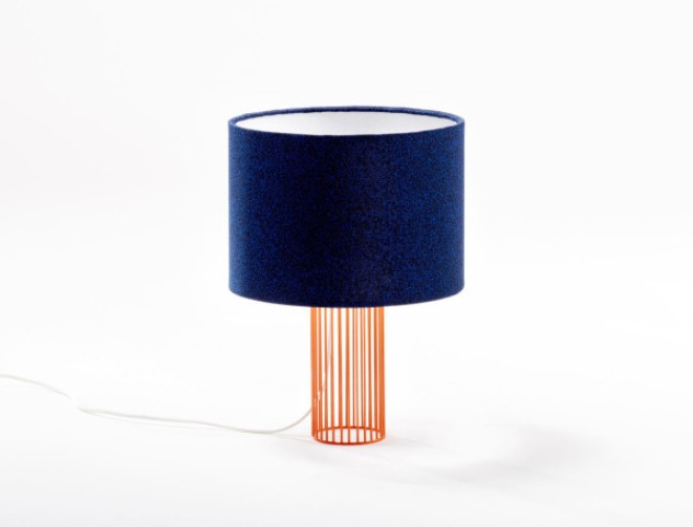 Here you'll find navy fabric ones on a copper base