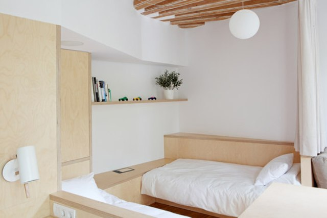 The furniture is very functional, for example, a sofa can be turned into a guest bed