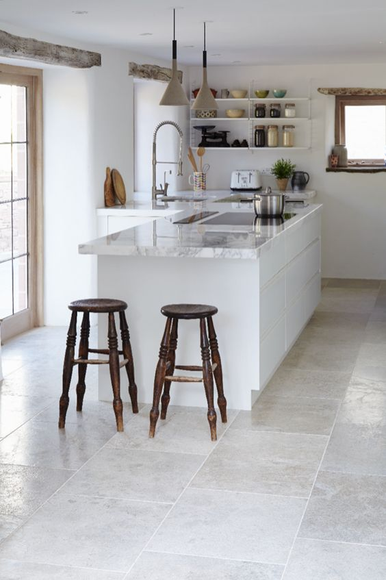 grey brushed limestone combines slight surface texture with a blend of light-mid grey tones.