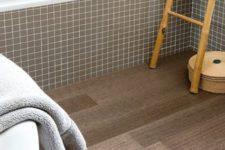 09 cork floors in wood slate shapes for a bathroom