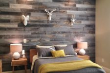 09 grey reclaimed wood wall for a rustic bedroom
