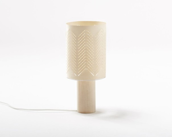 Carved bark on a light wood base looks very simple and natural