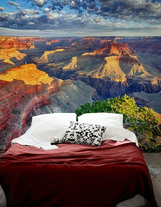 sleep in Grand Canyon with this incredible large scale mural