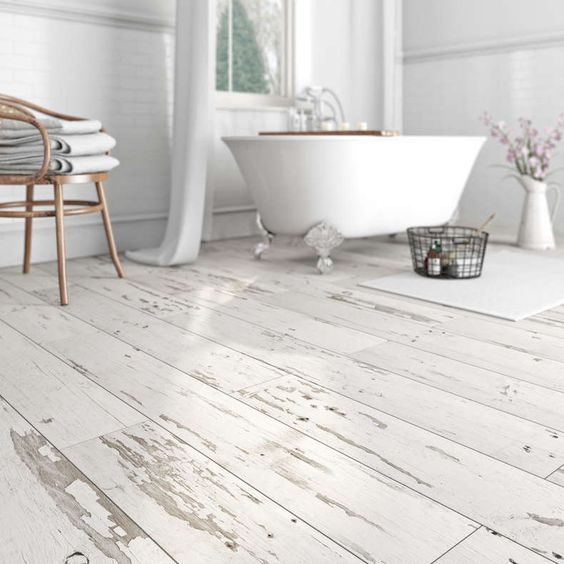 29 vinyl flooring ideas with pros and cons digsdigs for Wood effect vinyl flooring bathroom