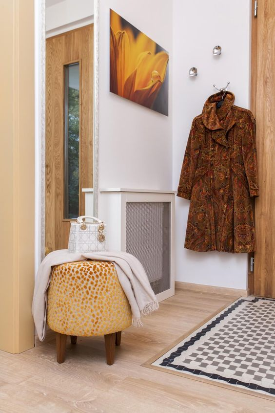 narrow radiator cover for a small hallway