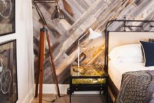 reclaimed accent wall