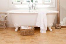 12 amber cork flooring to make the bathroom cozier
