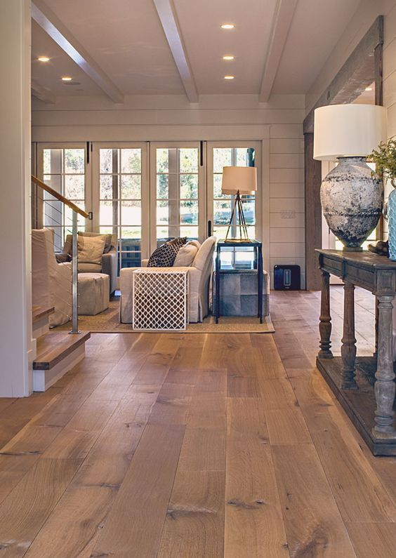 Wood Flooring Ideas Living Room. Wide Plank White Oak Hardwood Floor For A  Living Room