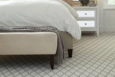 13 Marrakech carpet floor to highlight the bedroom decor and reduce the sound level